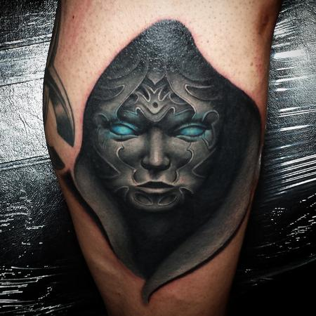 Dark woman tattoo Tattoo Thumbnail