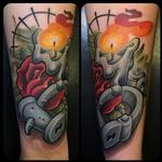rose - candle Tattoo Design Thumbnail