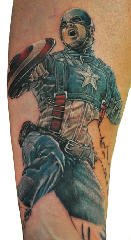 Captain America Tattoo Design Thumbnail