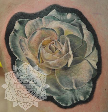 White rose Tattoo Design Thumbnail