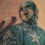 Captain America Tattoo Design Thumbnail