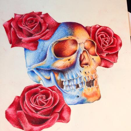 Tattoos - Skull and Roses - 104475