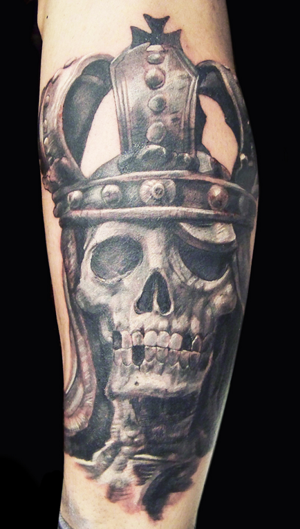 Skeleton king by zhimpa moreno tattoonow for King and queen skull tattoos