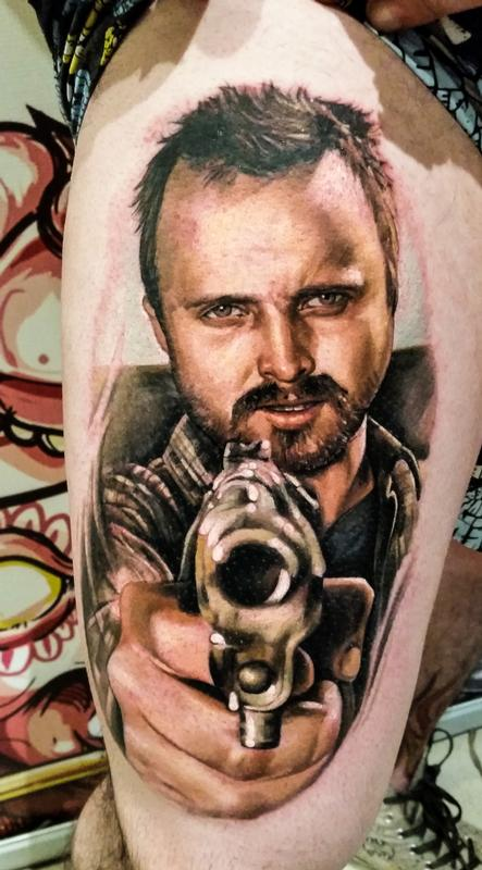 Pinkman by zhimpa moreno tattoonow for Tattoo shops in moreno valley