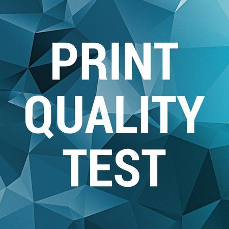 Print quality test