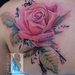 Realistic pink rose Tattoo Design Thumbnail