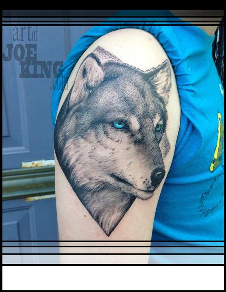 Diamond Wolf Tattoo Design Thumbnail