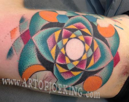 Color Dot Work Mandala Tattoo Design Thumbnail