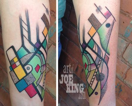 Mondrian Kandinsky Tattoo Design