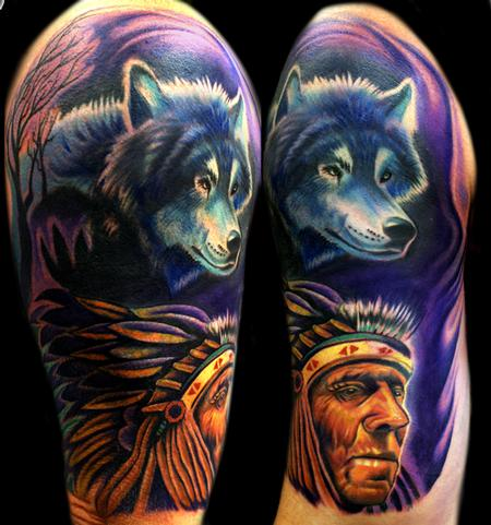 Wolf Tattoos on Tattoos   Coverup Tattoos   Page 5   Indian Wolf