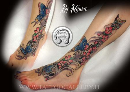 Tattoo fiori e farfalle  Design Thumbnail