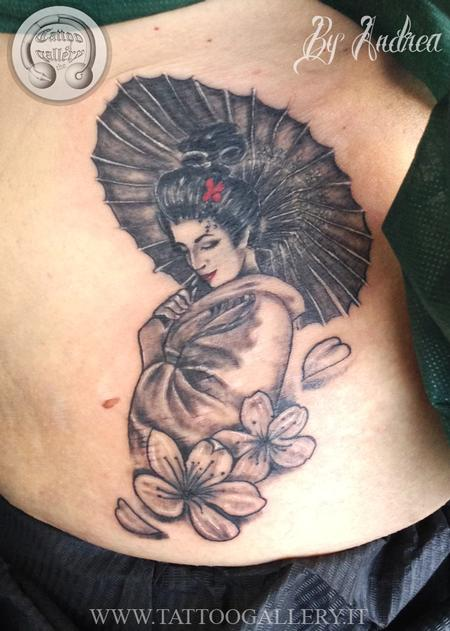 Geisha  Tattoo Design Thumbnail