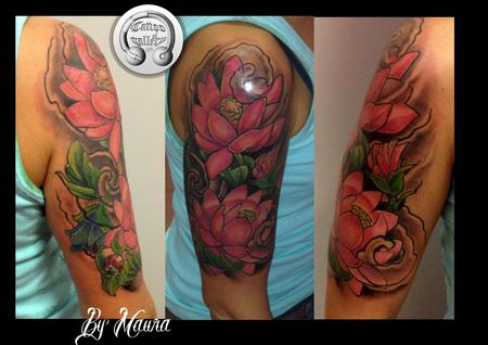 Tattoos - Tattoo fiori di loto , tattoo lotus flowers - 97749