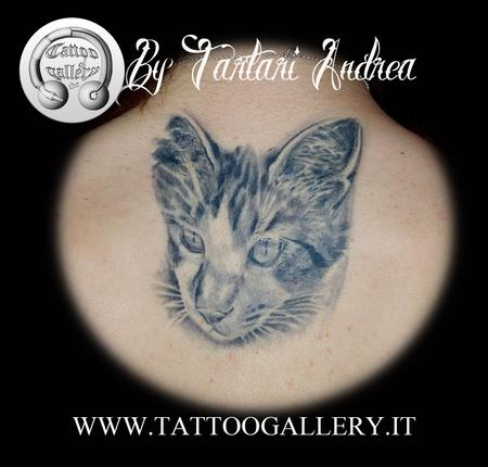 Ritratto Gattino, Cat portrait Tattoo Design Thumbnail