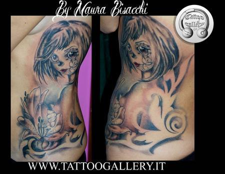 Tattoos - Tattoo dia de los Muertos , ragazza teschio, girl skull - 81124