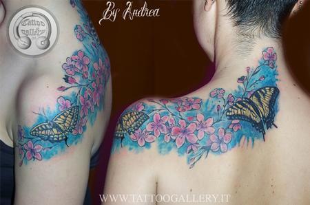 Ciori di ciliegio e farfalle Design Thumbnail