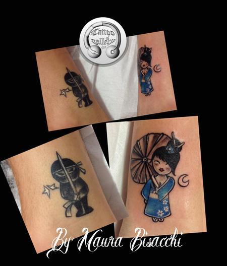 Tattoos - Tattoo mini Geisha e Ninja  - 82513