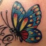 farfalla iniziali Tattoo Design Thumbnail