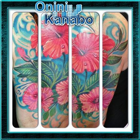 Tattoos - hibiscus - 77665