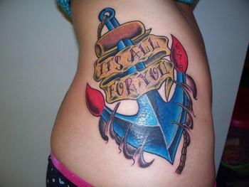 Anchor Tattoo on Traditional Anchor Tattoo   Tattoos