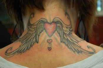 The hand of fate tattoo tattoos onini kanabo heart for Tattoos behind the neck