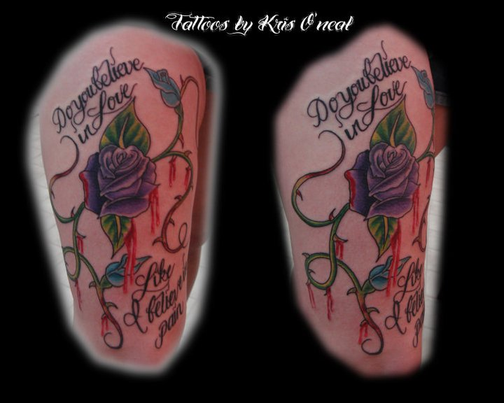 roses blood Tattoo Thumbnail