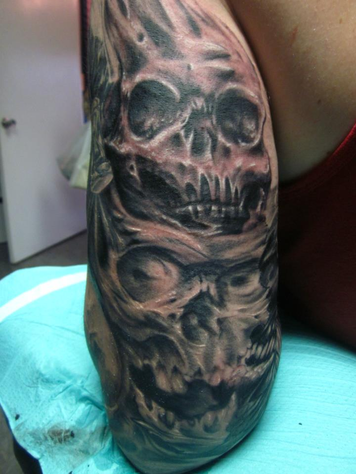 Tattoos - skull tiki - 66624