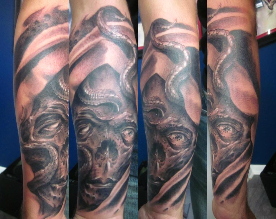 Tattoos - squid skull - 66631