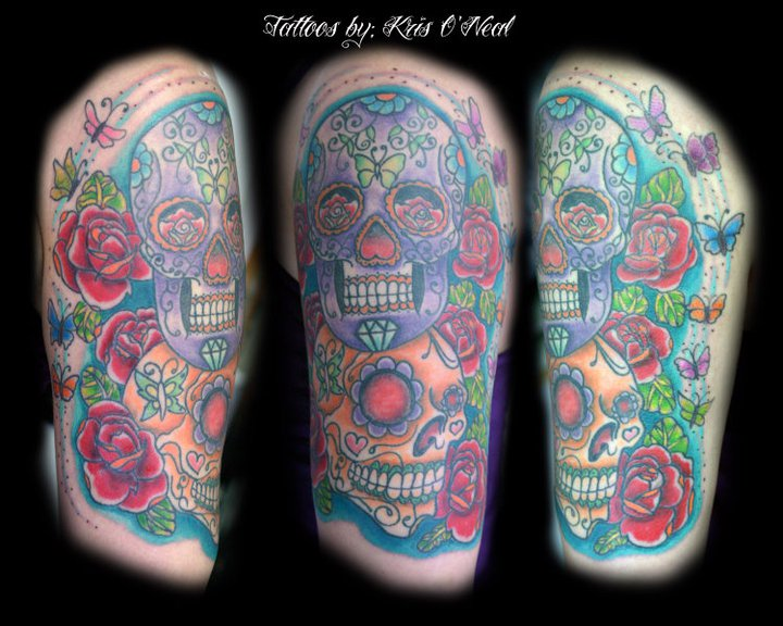 sugar skulls Tattoo Thumbnail