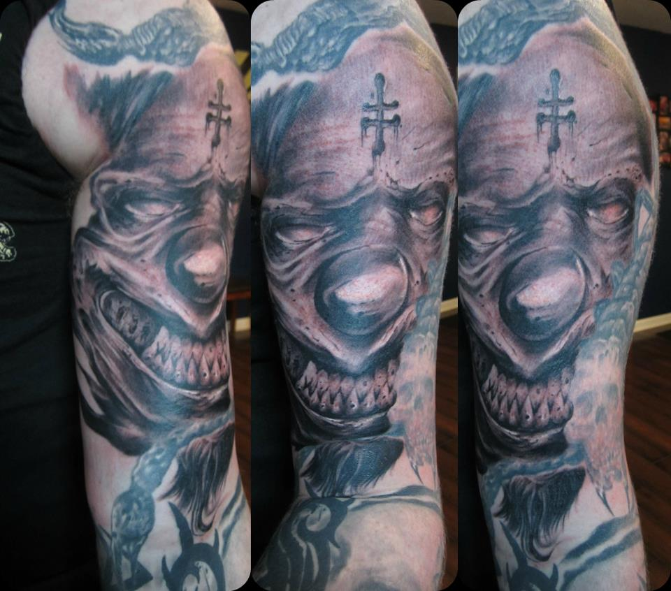 wicked clown Tattoo Thumbnail
