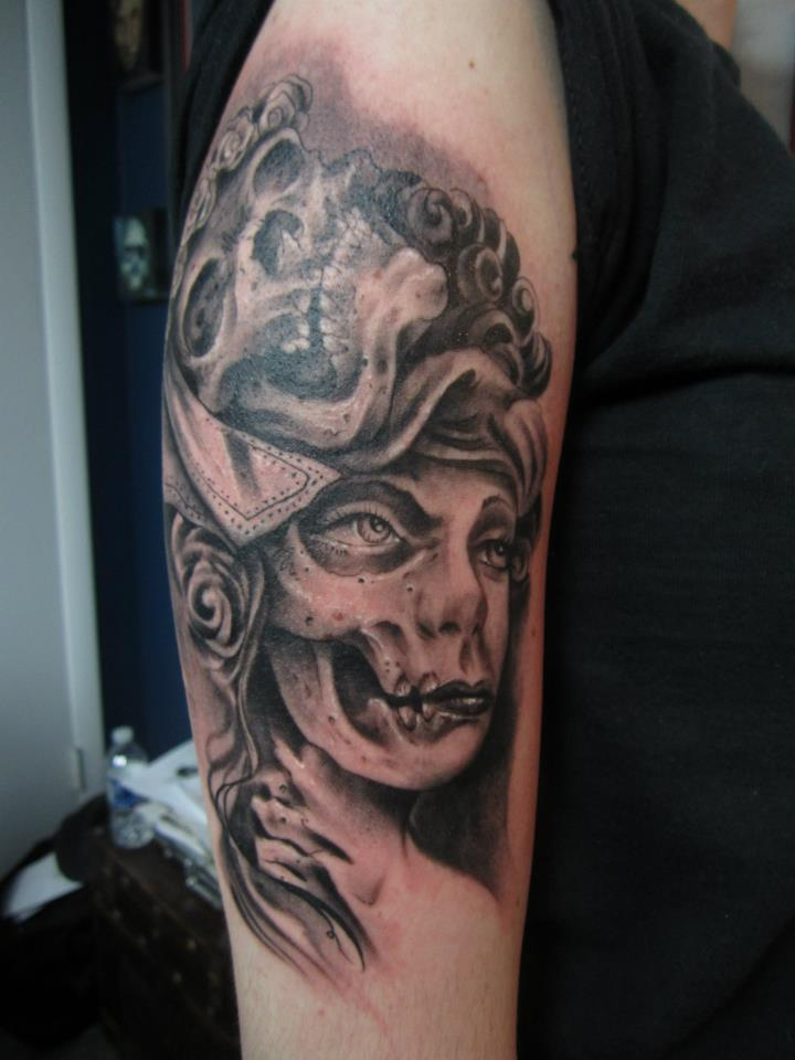 woman skull Tattoo Thumbnail