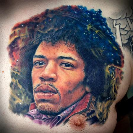 Tattoos - Jimi Hendrix portrait - 108212