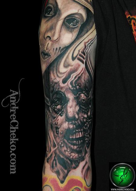 Andre Cheko - Horror Tattoo Sleeve
