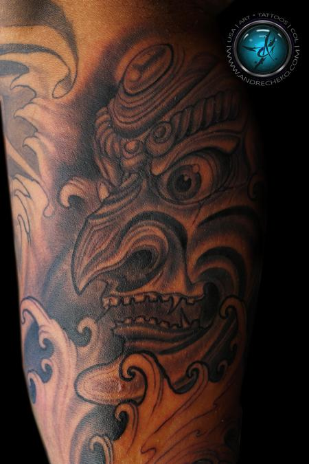 Tattoos - Oriental mask tattoo - 94254