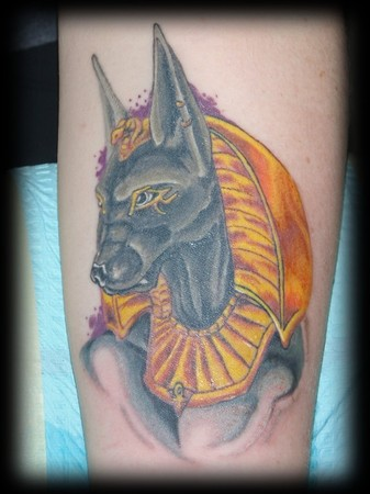 egyptian dog tattoo -#main