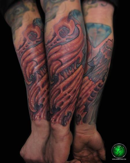 Tattoos - Bio Organic arm color tattoo - 76507