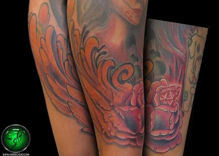 Tattoos - Organic rose tattoo - 69423