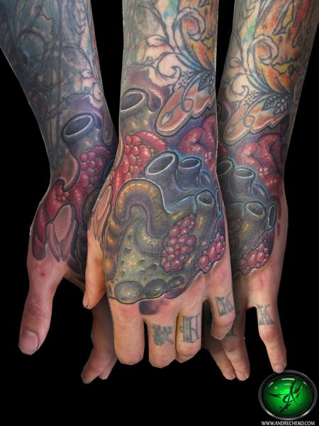 Tattoos - Heart hand tattoo - 69441