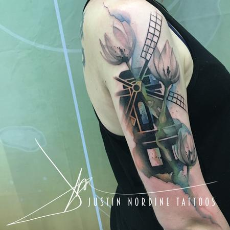 Tattoos - Windmill and Tulips - 116233