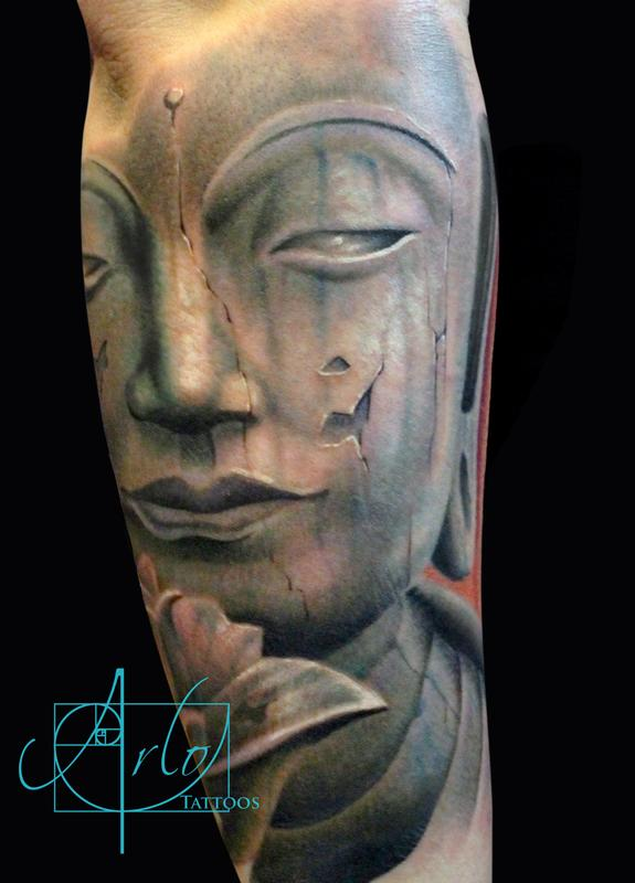 Buddha by arlo dicristina tattoonow for Arlo tattoo artist