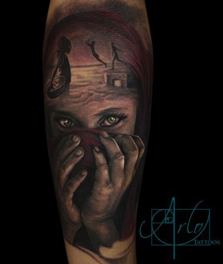 Realistic arm piece by arlo dicristina tattoonow for Arlo tattoo artist