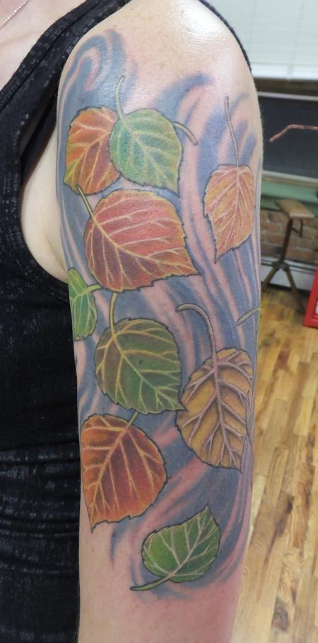 Aspen Leaves Tattoo Thumbnail