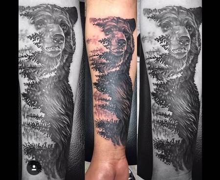 Loved doing this cool bear piece. Tattoo Thumbnail