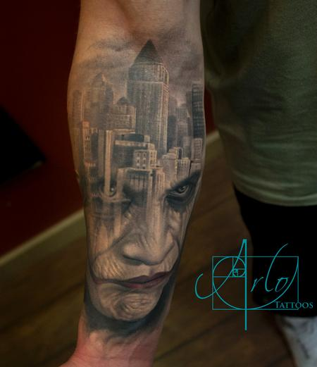 Joker Gotham City Morph Tattoo Thumbnail