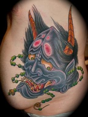 Hanya demon Tattoo Design