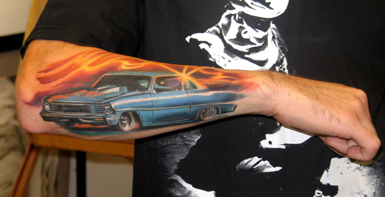 muscle car by brian murphy tattoonow. Black Bedroom Furniture Sets. Home Design Ideas