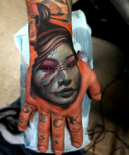 Tattoos -  dark oriental style - 67848