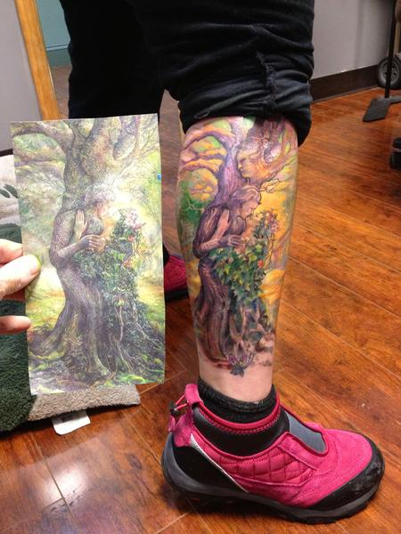 Tattoos - fantasy tree - 79110