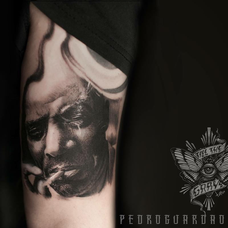 howlin wolf portrait done at oporto tattoo expo old blues never die by pedro guard o tattoonow. Black Bedroom Furniture Sets. Home Design Ideas