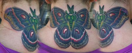 Tattoos - Neck moth - 67574